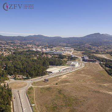 Zona Franca Vigo fotografia aerea grandes obras Porto do Molle Nigran