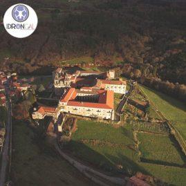 Monasterio de Oseira Cea Ourense fotografía aérea general logo Grupo Drongal