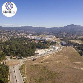 Zona Franca Vigo fotografía aérea grandes obras logo Grupo Drongal